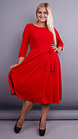 Кора. Элегантное платье плюс сайз. Красный. 54