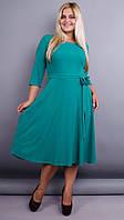 Кора. Элегантное платье плюс сайз. Бирюза., фото 1