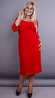 Вивиан. Оригинальное платье больших размеров. Красный. 64