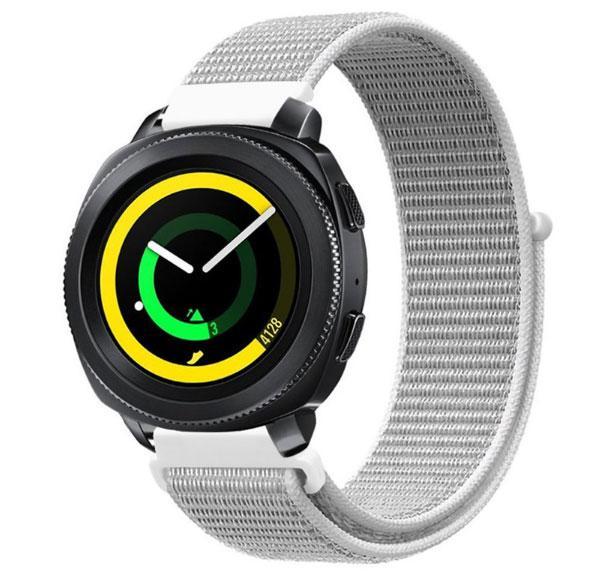 Нейлоновий ремінець Primo для годин Samsung Sport Gear SM-R600 - White