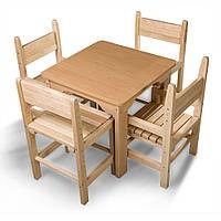 Детский стол и стул буковый SportBaby