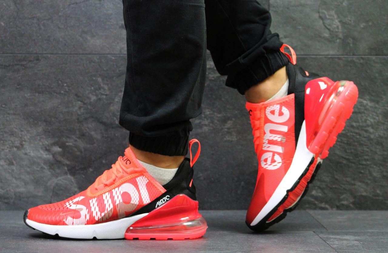 886e93fd Мужские кроссовки Nike Air Max 270 Supreme, ярко-красные(Реплика ...