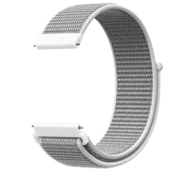 Нейлоновий ремінець для годинника Motorola Moto 360 2nd gen (42 mm ) White