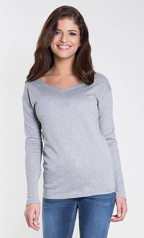 Женская трикотажная блуза серого цвета. Модель Laisa Zaps, коллекция осень-зима 2018-2019