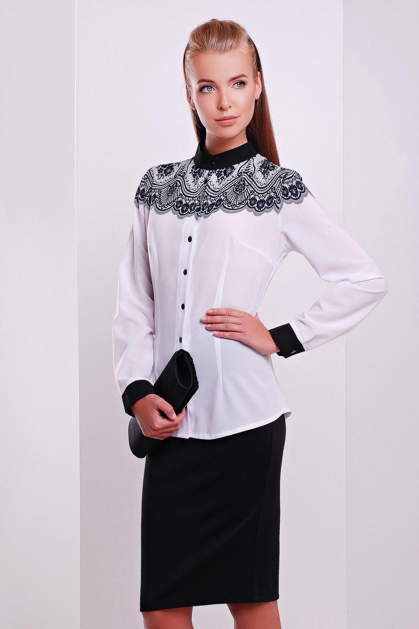 Кружево черное блуза Есения д/р
