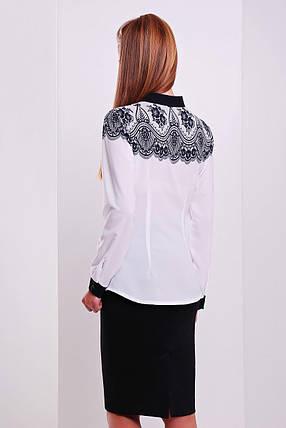 Кружево черное блуза Есения д/р, фото 2
