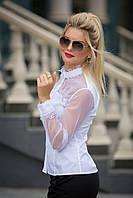 Шикарная женская блуза с сеткой, фото 1