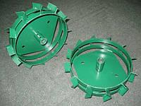 Колеса металлические 340 мм  с грунтозацепами  для мотоблока