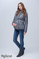 Демисезонная куртка для беременных FLOYD, пыльный хаки с цветами + пудра