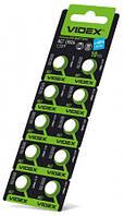 Батарейка часовая Videx AG 7 (LR927) blister card 10 pc 10 шт/уп