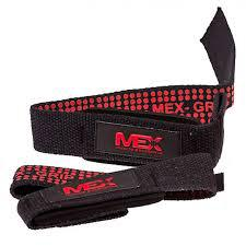 MEX Nutrition Pro Lift Lifting Straps Black