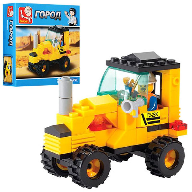 Конструктор M38-B0120 місто, трактор, фігурка, 70 елементів, в коробці, 14,5-14,5-4,5 см