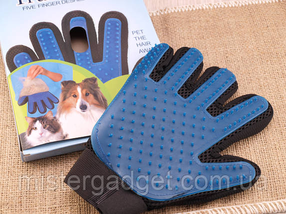 Перчатка для животных TRUE TOUCH вычесывает шерсть, фото 2