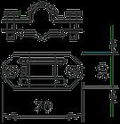 5336007 Универсальный разделительный зажим с 16 мм на 8-10 мм, 226 8-10, OBO Bettermann (Германия), фото 3