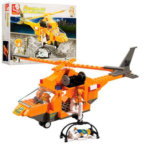 Конструктор M38-B0102 рятувальники, гелікоптер, фігурки, 160 елементів, в коробці,28,5-19-5,5 см