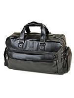 Дорожная сумка из искусственной кожи dr. Bond 8711 black на 1 отделение