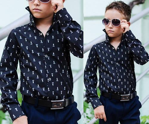 08a0136d1af Рубашка Polo на мальчика. 100% хлопок. Чёрная