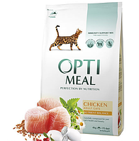 Optimeal Cat Adult Chicken, 10кг