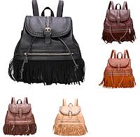 Рюкзак женский кожзам с бахромой Cowboys Backpacks