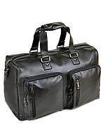 Дорожная сумка из искусственной кожи dr. Bond 8713 black на 1 отделение