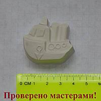 Фигурка из гипса. Гипсовая фигурка для раскрашивания пароход мини
