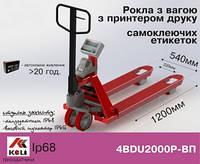 Весы-рокла 4BDU2000Р-В-П с принтером этикеток