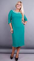 Вивиан. Оригинальное платье больших размеров. Бирюза., фото 1