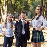 Школьная форма костюм классический мал. синий 65 %п/э, 25% вискоза,10% шерсть, подкл.-100% п/э SS14B-0702-023
