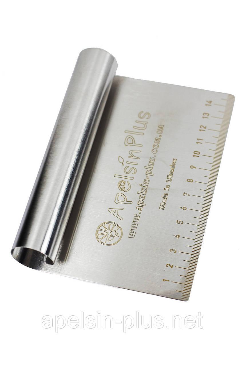 Шпатель кондитерский с линейкой 10 см 8 см металл