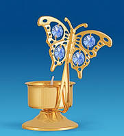 Підсвічник з кристалами Сваровські Метелик 12 см AR-3016