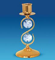 Підсвічник з кристалами Сваровські 13 см AR-1056
