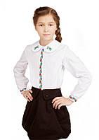 Блуза для дівчинки Ласкавиця (сорочкова біла)