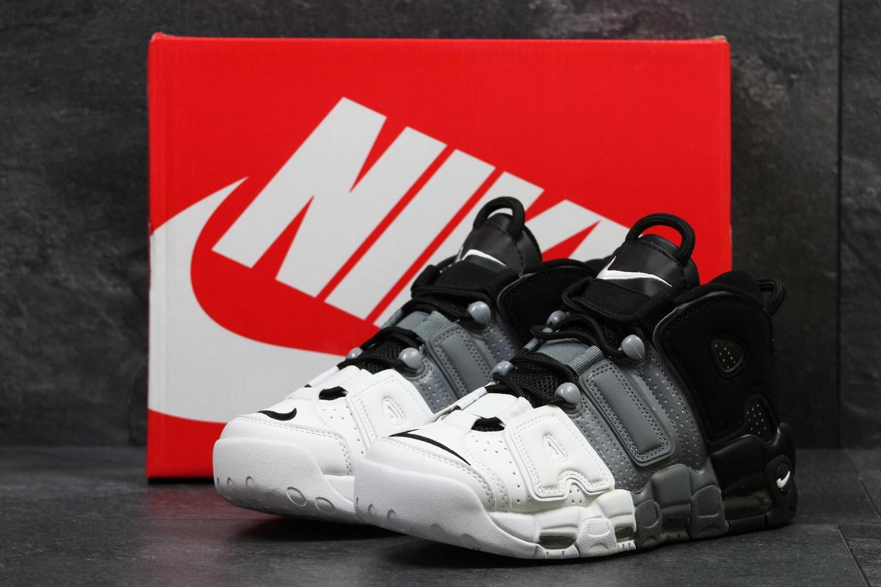 3ca49556 Мужские кроссовки Nike Air More Uptempo Grey Black White купить в ...