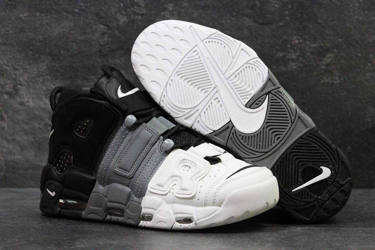 Мужские кроссовки Nike Air More Uptempo Grey Black White