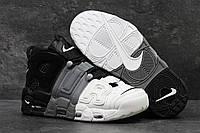 Мужские кроссовки Nike Air More Uptempo Grey Black White, фото 1
