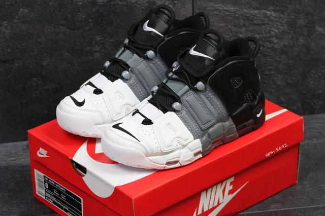 Nike Air More Uptempo Grey Black White