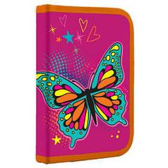 Пенал твердый одинарный с клапаном Butterfly, 20.5*14*3.5 (531793)