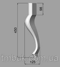 Ножка стула, банкетки, журнального столика. Форма кабриоль, под покраску, деревянная резная. 450 мм., фото 3