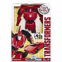 Трансформеры Сайдсвайп Роботы под прикрытием Титаны  Transformers Robots in Disguise Titan Changers Sideswipe