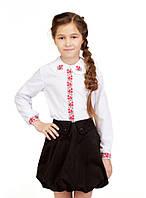 Блуза для дівчинки Калинонька (сорочкова біла)