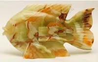 Рыба из натуральных оникса камней