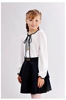 Школьная юбка для девочки с воланом 122-152