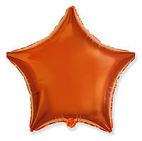 """Фольгований куля """"Зірка"""" помаранчева 45 см, Flexmetal Іспанія"""