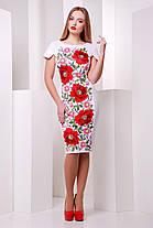 Нарядное платье белого цвета Маки  Питрэса-КД к/р, фото 2