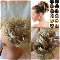 Резинка-шиньон из волос платиновый блонд 0215V-15BT613