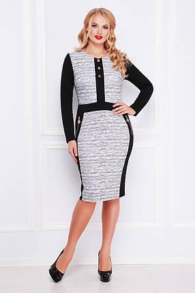 Красивое  женское платье больших размеров Меланж платье Анита-Б д/р XL, фото 2
