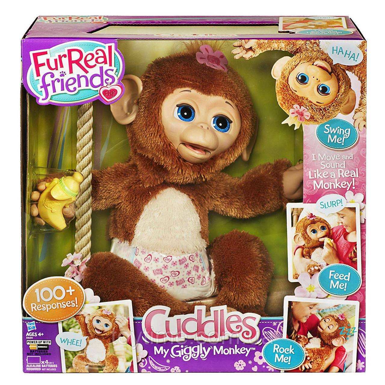 Fur Real Friends Смешливая обезьянка / Fur Real Friends Cuddles My Giggly Monkey Pet