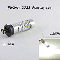 Led лампа в габарит, ДХО SLP LED, цоколь PW24W 10-2323 Samsung led, 9-30 В. Белый, Canbus