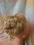Резинка шиньон из волос соломенный 0215А-24В Global, фото 4