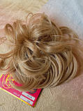 Резинка шиньон из волос соломенный 0215А-24В Global, фото 5